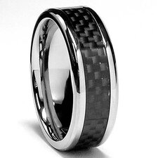 Titanium Carbon Fiber Comfort Fit Wedding Band