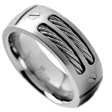 <strong>Bonndorf Laboratories</strong> Men's Titanium Screw Comfort Fit Wedding Band