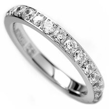 Women's Titanium Cubic Zirconia Eternity Engagement Band