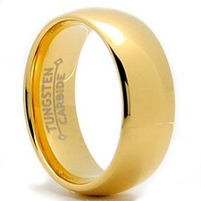 Tungsten Carbide Dome Comfort Fit Wedding Band