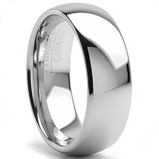Men's Tungsten Carbide Classic Dome Comfort Fit Wedding Band