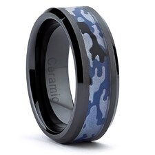 <strong>Bonndorf Laboratories</strong> Hypoallergenic Ceramic Camouflage Military Ring