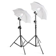 2 Photo Studio Lighting Umbrella Stand Photography Light Kit