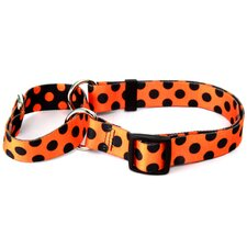 Halloween Polka Dot Martingale Collar