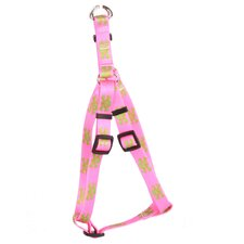 <strong>Yellow Dog Design</strong> Pink/Green Skulls Step-In Harness