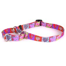 Crazy Hearts Martingale Collar