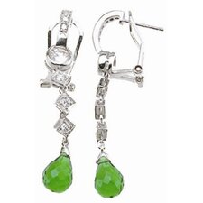 Pear Cut Tourmaline Drop Earrings