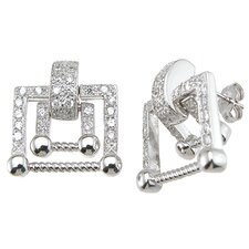 Brilliant Cut Cubic Zirconium Fashion Stud Earrings
