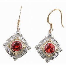 <strong>Plutus Partners</strong> Brilliant Cut Ruby Drop Earrings