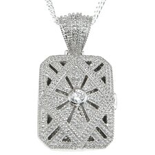 .925 Sterling Silver Locket Pendant