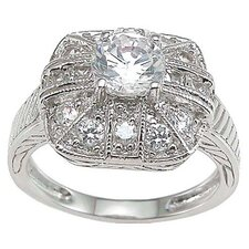 <strong>Plutus Partners</strong> .925 Sterling Silver Brilliant Cut Cubic Zirconia Anniversary Ring