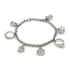 Dangling Cubic Zirconia Charm Bracelet