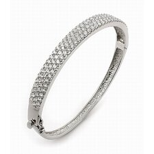 <strong>Plutus Partners</strong> Pave Cubic Zirconia Bangle Bracelet