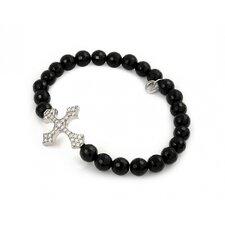 Cubic Zirconia Cross Strand Bracelet