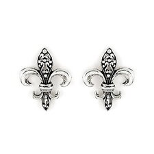 <strong>Plutus Partners</strong> Fleur De Lis Stud Earrings