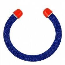 Stingray Enamel Ends Cuff Bracelet
