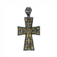 Signature Sterling Silver Cross and Dagger Accents Pendant