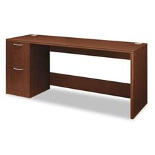 Attune Series Computer Desk with Woodgrain PVC Edge Corner