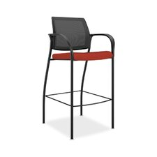 Ignition Mesh Back Cafe-Height Stool with Arms