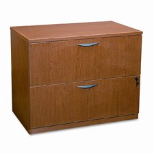 Two-Drawer Lateral File Pedestal, 35-3/4w x 22d x 29h, Bourbon Cherry