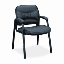 VL640 Series Leather Guest Chair with Leg Base