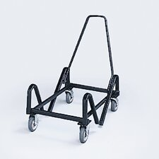 Olson Stacker Truck Cart, 40-Chair Capacity, 21-3/8 x 35-1/2 x 37, Black