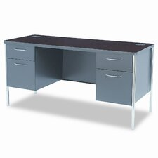 Metro Classic Computer Desk with Double Pedestal Desk