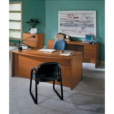 <strong>HON</strong> 10500 Series Bow Front Desk Double Pedestal