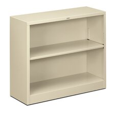 "29"" H Two Shelf Steel Bookcase"