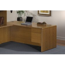 "<strong>HON</strong> 10700 Series 72"" W Right 3/4 Pedestal Desk"