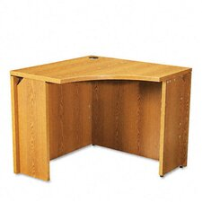 <strong>HON</strong> 10500 Series Curved Corner Workstation Desk, 18w x 36d x 29-1/2h, Medium Oak