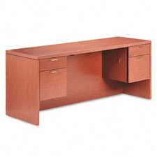 <strong>HON</strong> 11500 Series Valido Kneespace Credenza Desk with 2 Pedestals