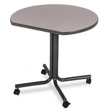 61000 Conference End Table w/Casters, Round, 29-1/2h x 36dia, Gray