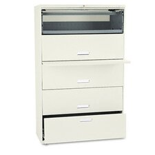 600 Series Lateral File w/1 Drawer/4 Roll-Out Shelves, 42w, PY
