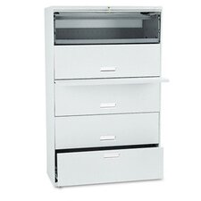 600 Series Lateral File w/ 5 Drawers, 42w, Lt. Gray