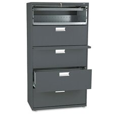 "<strong>HON</strong> 600 Series 36"" W Five-Drawer Lateral File"