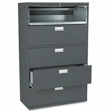 "<strong>HON</strong> 600 Series 42"" W Five-Drawer Lateral File"