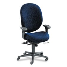 Unanimous High-Performance High-Back Executive Chair, Navy Blue Fabric