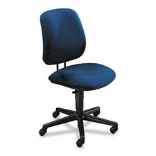 7700 Series Swivel Task Chair, Olefin Fabric, Blue