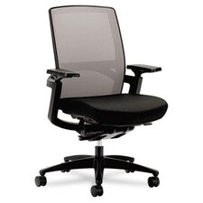 High-Back Stretch Office Chair with Arms
