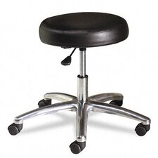 "22"" Height Adjustable Stool with Polished Base"