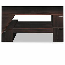 Attune Series Under-Credenza Storage With File and Printer Shelf, Mahogany