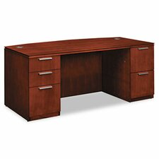 Arrive Bow Front Executive Desk with 5 Drawers