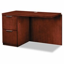 Single Pedestal Left Desk Return