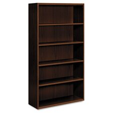 Arrive Five-Shelf Bookcase, Henna Cherry