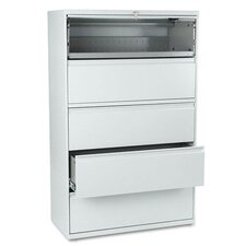 "<strong>HON</strong> 800 Series 42"" W Five-Drawer Lateral File with Locks"