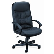 <strong>HON</strong> Basyx Vl641 Leather High-Back Swivel / Tilt Chair
