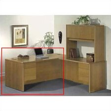 "10700 Series 29.5"" H x 72"" W Left 3/4 Pedestal Desk"