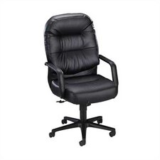 High-Back Pillow-Soft Office Chair with Arms