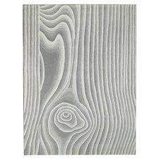Wood Grain Gray/Ivory Area Rug